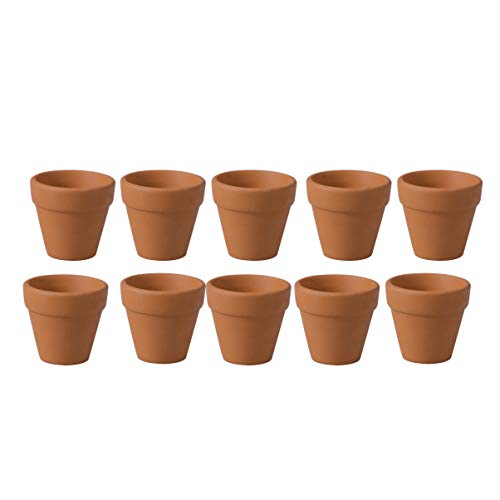 DOITOOL Lot de 10 Mini Pot Terre Cuite 4,5 x 4 cm, Accessoires Jardin Miniature, Decoration Pot de Fleur, Maison Miniature DIY pour Enfants et Adultes