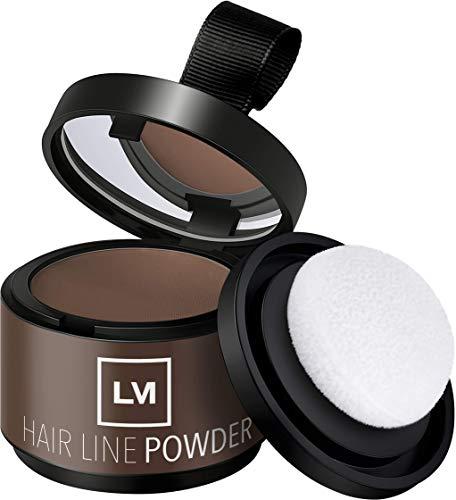 LEON MIGUEL Hair Line Powder - Ansatzpuder/Concealer | Haarverdichtung und Make-up zum Ansatz kaschieren | Wasserfest (Hellbraun)