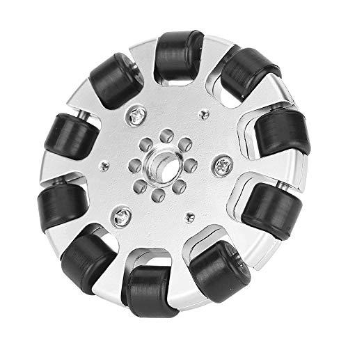 Ruedas para vehículos Rueda omnidireccional de 3 pulgadas con 10 piezas de rodillos de goma, piezas de robots industriales