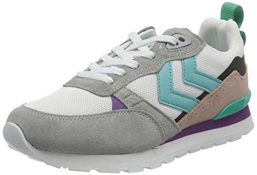 hummel Womens Thor Sneaker, White/Black/Grey,42 EU