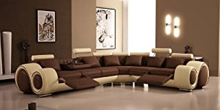 4087 - Bonded Leather Sectional Sofa with Recliners by VIG Furniture