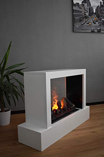 Chimenea eléctrica con divisor de espacios, fuego de vapor de agua Opti Myst, chimenea eléctrica con mando a distancia…