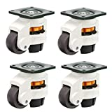 Skelang 4-Pcs Leveling Machine Casters with Nylon...