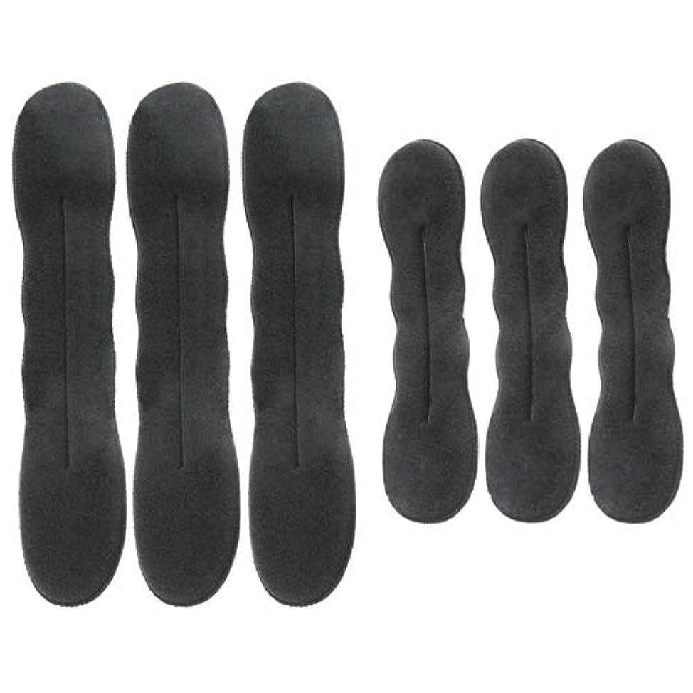 TOVOT Hair Magic Bun Maker Foam Sponge Bun Shaper Hair Accessories,Hair Donut Maker (3 Small, 3 Large)