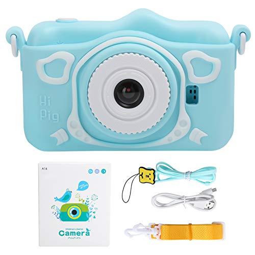 BOLORAMO Cámara para niños, cámara para niños Pantalla IPS de Alta definición Dual de 3000 W y 3,5 Pulgadas Mini Juguetes Digitales para niños Regalos, cámaras Digitales HD para niños
