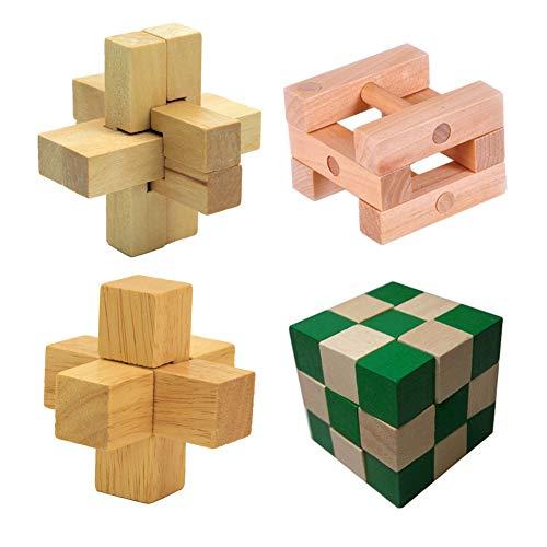 Chonor Cubo Rompecabezas 3D de Madera del Enigma Juego Rugby Puzle - Clásica de Cerradura de Brain Teaser Puzzle IQ Juguetes para Niños y Adultos - Idea Perfecta del Regalo y de Decoración