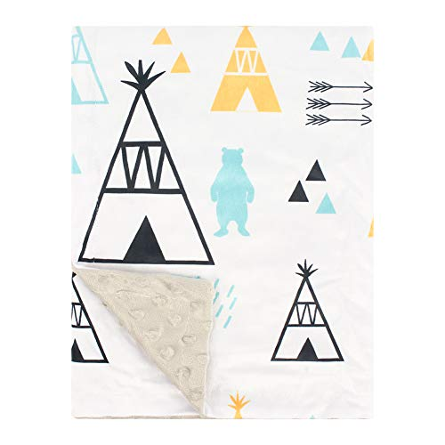 Soft Minky Baby Blanket with Double Layer Dotted Backing Plush Receiving Baby Blanket for Baby boy Baby Girl Newborns Bedding Tent 30x40 Inch