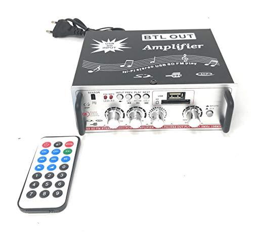 Tiempo de saldos, amplificador estéreo Hi Fi para coche, casa, con entrada USB, tarjeta SD, MP3, radio FM Aux
