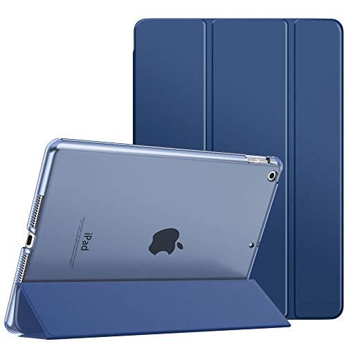 """MoKo Schützhülle Kompatibel mit Neu iPad 8. Gen 2020/7. Generation 2019, iPad 10.2 Hülle, Smart Case Ständer Transluzent Matt Rückseite Auto Wake/Sleep Kompatibel mit iPad 10.2"""", Marineblau"""