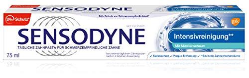 Sensodyne Intensivreinigung, Tägliche Zahnpasta Mit Fluorid, 1x75ml, Bei Schmerzempfindlichen Zähnen