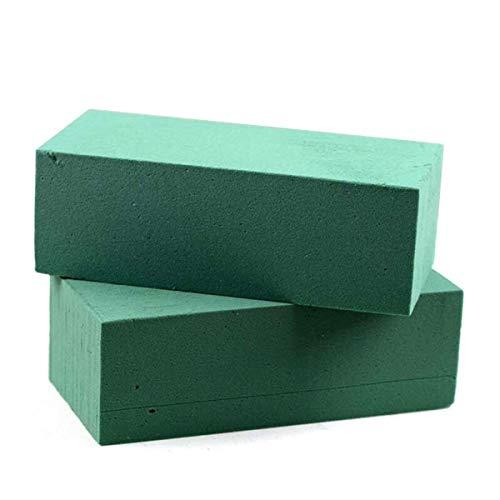 takestop® Esponja para Flores Frescas 3Piezas esponjas hidrófila Verde 23x 11cm para maría composición Florales Artificiales, hazlo tú Mismo Fiestas