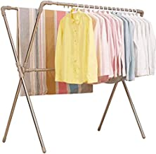 Clothes Rack Folding Clothes Rack, Hospital Hotel Sheets Drying Rack Home Multifunction Balcony Drying Rack Stainless Stee...
