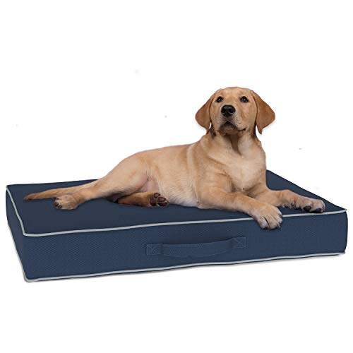 Premium Ultra Thick Dog Bed For Large Dogs | Waterproof Kennel Pad | Scratch Resistant Outdoor Extra Large Size Dog Bed | Orthopedic Pet Bed | Removable, Washable, UV Coated Fabric Easily Wipes Clean