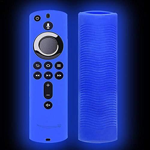 didatecar Carcasa de silicona luminosa para Alexa Voice Remote Fire TV Stick 4K / Fire TV (3ª generación) Fire TV Cube a prueba de golpes funda protectora de silicona parsimonious