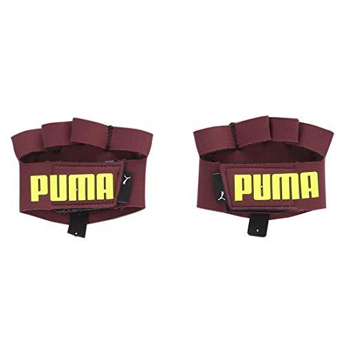 PUMA TR ESS Grip Gloves Handschuhe, Vineyard Wine-Yellow Alert, L