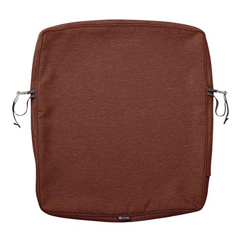 Classic Accessories Montlake Patio Back Cushion Slip Cover, Heather Henna, 21x23x2