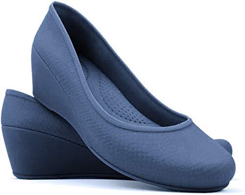 Boaonda Women's Wedge Heels - Comfortable - Caren (8, Navy)