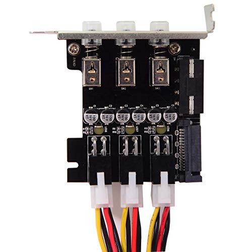 3 Sistema de Control de Disco Duro Inteligente Sistema de gestión de Control HDD SSD Interruptor de alimentación con Soporte de Perfil bajo