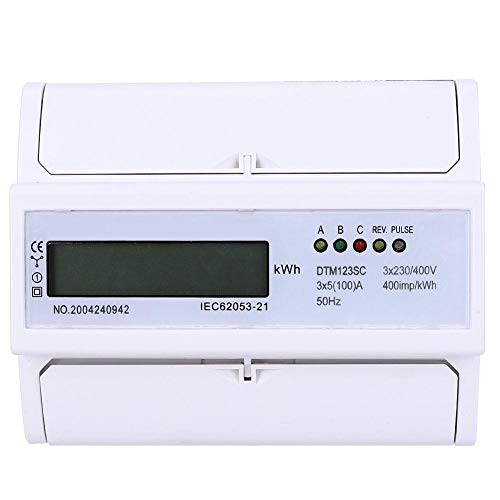 230/400V 5-100A Energy Consumption Digital Electric Power Meter Watt-Hour Meter 3 Phase KWh Meter with LCD