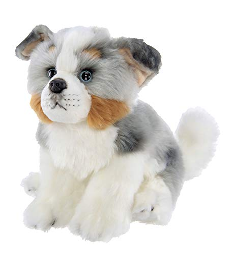 Bearington Hogan Plush Australian Shepherd Stuffed Animal Puppy Dog, 13 Inches