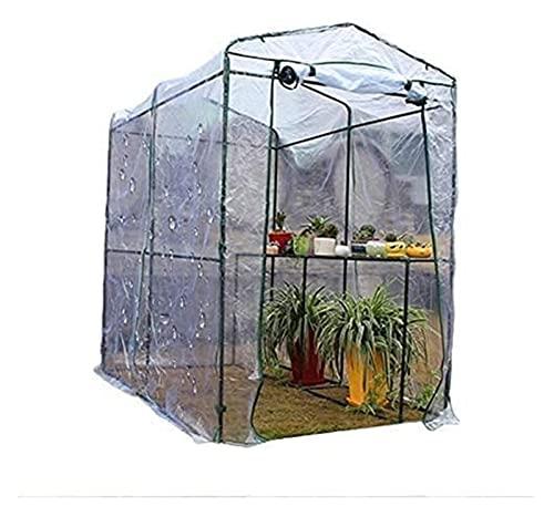 Serra Rettangolare Giardino Green House Greenhouse Walk-in Serra a Serra for Serre for Balcone Patio succulente antigelo Mantenere Il Coperchio del capannone Caldo