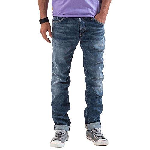 Meltin' Pot Herren Melton Jeans mit geradem Bein, Blu (Denim Blue), 31W x 34L