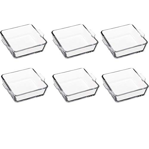 FIVE Simply Smart - Lot de 6 Mini-Plats Carrés en Verre 15cm Transparent