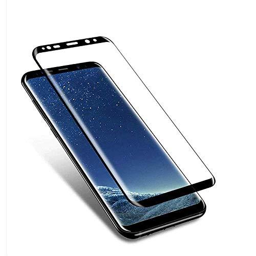 FQDDZ [3 Stück] Panzerglas Schutzfolie Kompatibel für Samsung Galaxy S8, 3D Curved Full Cover Panzerglasfolie, 9H Härte, Anti-Kratzer, Anti-Fingerabdruck, Displayschutzfolie für Galaxy S8 (Schwarz)