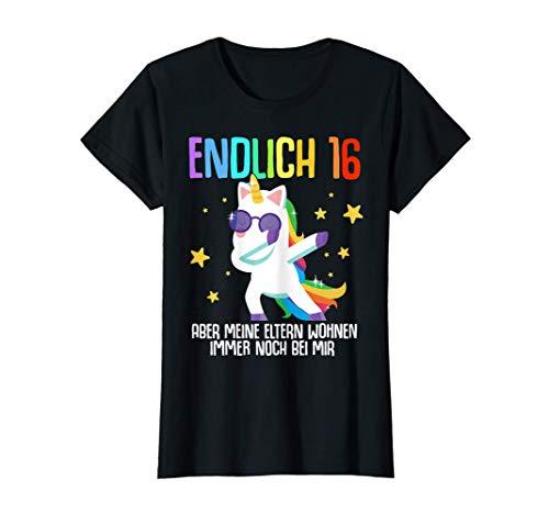 Damen 16. Geburtstag Mädchen 16 Jahre Frau 2005 Einhorn Geschenk T-Shirt