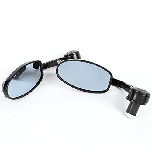 Tekbox, Raccordi Finali Di Specchietti Per Moto Da 22Mm. Specchietti Retrovisori Universali E Regolabili Con Supporto Colorato E Vuoto Per Manubri Di Moto, Scooter, Ciclomotori, Una Coppia