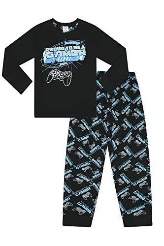 Jungen Pyjama Proud to Be A Gamer Controller, lang, Schwarz/Blau Gr. 13 Jahre, blau