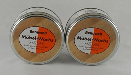 Renuwell Spar-Set Möbel-Wachs 2x 500 ml