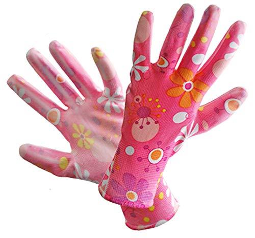 12 Paar Damen-Arbeitshandschuhe Schutzhandschuhe Gartenhandschuhe Modell (R472OG-ROSE) (8)