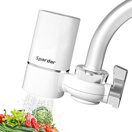 Wasserfilter für Wasserhahn, Küchen Wasserhahn Filter für Trinkwasser Wasser Filtersystem, Water Filter Tap fit für Standard Wasserhahnfilter