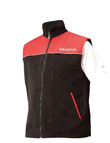 Daiwa Fleece gilet rosso/nero blu/nero tutte le taglie M/L/XL/XXL Dfwcb, Red / Black, M