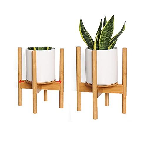 Macllar Soporte para macetero, Soporte de bambú Extensible, Soporte para Plantas...