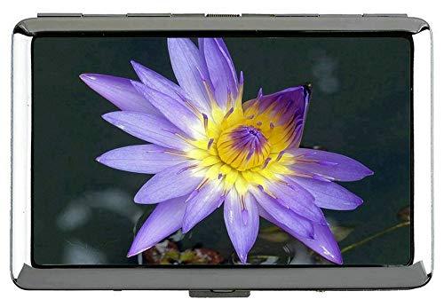 Yanteng Pflanze Blume Lotus Blume Hard Box Full Pack Zigarettenetui-Wasser Blume Clip Offene Tasche Inhaber für 14 Zigaretten