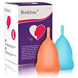 Bodybay Menstrual Cup, Set of 2 Periods Kit with FDA Registered,Best Feminine Alternative Protection to Tampons and Cloth Sanitary Napkins