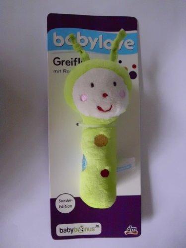 Babylove DM Greifling mit Rassel für Babys Babyspielzeug aus weichem Stoff. Farbe: Grün ca. 12 cm NEU! Sonder-Edition