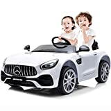 KASPURO 2 Seater Battery Powered Cars for Kids, Electric Cars for Kids, Kids Ride on Car for Kids, Mercedes Benz Car with Remote Control, Battery Powered, LED Lights, Wheels Suspension, Music, Horn