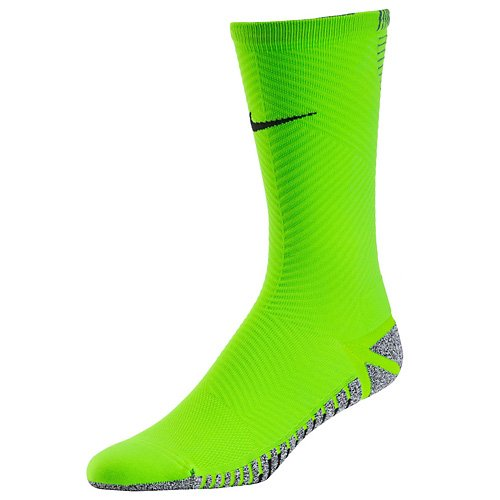 NIKE Grip Strike Light Crew Calcetines, Hombre, Verde (Electric Green/Black), 8/9.5