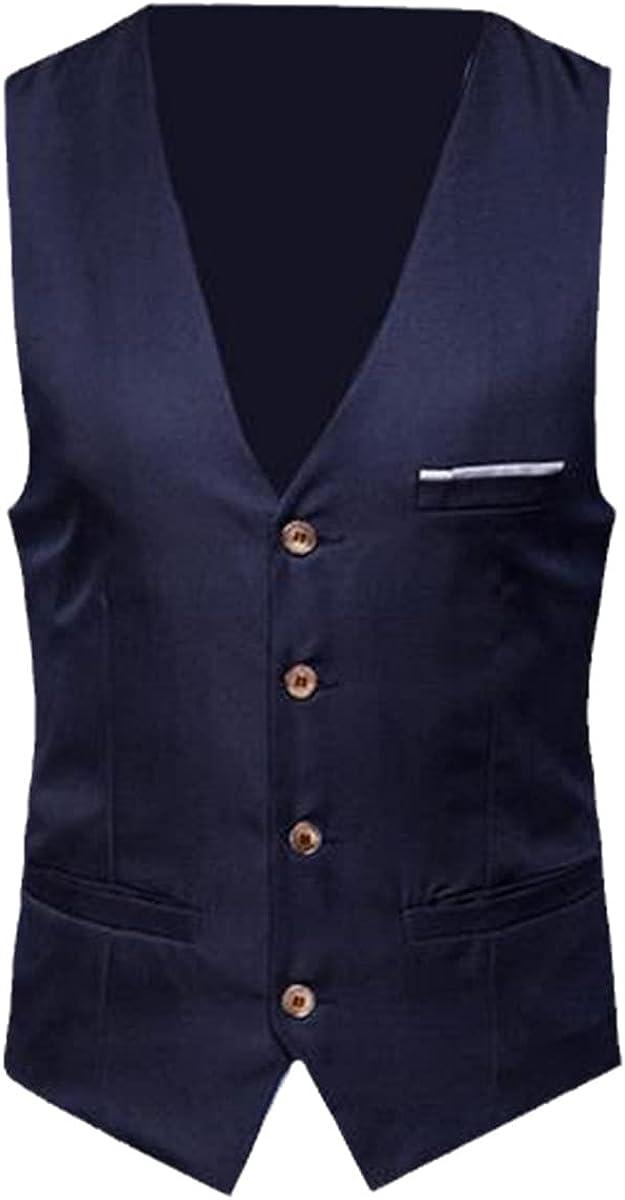 Men's plus size classic formal solid color suit vest single-breasted business vest sleeveless vest