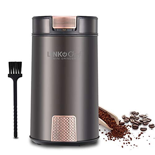 コーヒーミル 電動コーヒーミル コーヒーグラインダー ワンタッチで自動挽き コーヒーミル 200Wハイパワー 急速挽く 均一な粉末 電動コーヒーミル 掃除簡単 コーヒーグラインダー 過熱保護 LINKChef