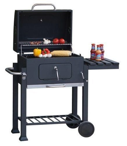 Super grills Charcoal BBQ Grill with lid outdoor cooking garden Barbecue Toronto style square