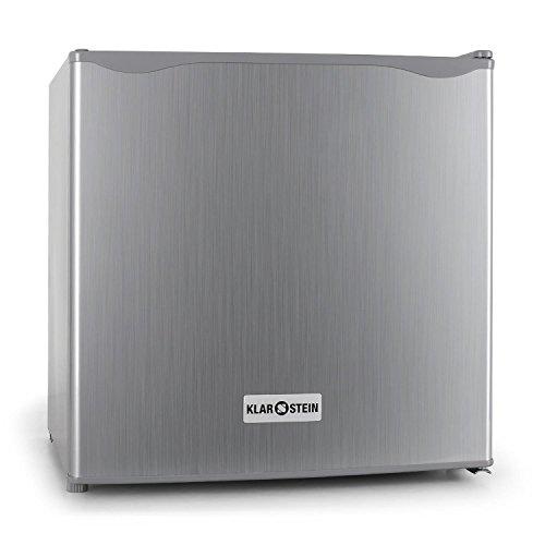 Klarstein 10006674 Mini-Kühlschrank / A+ / 109 kWh/Jahr / 47 cm / 48 Liter Kühlteil / Minibar / silber