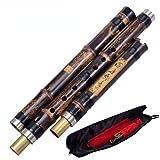 SHANEYOR Flautas Chinas De Bambú Verticales Xiao De Bambú Púrpura Para Principiantes De 8 Agujeros G/F Afinado Instrumento De Viento étnico (G derechazo)