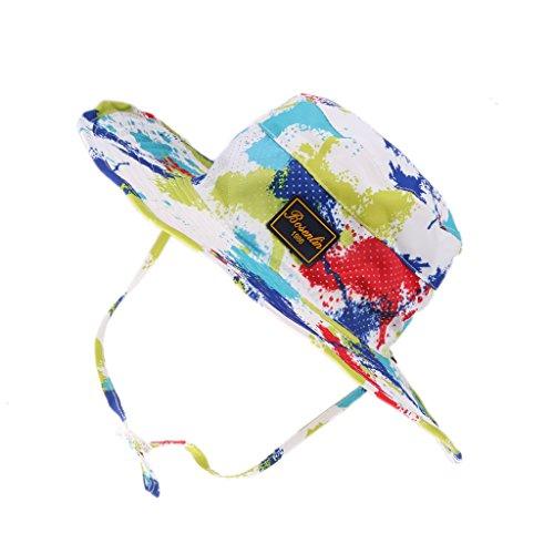 sommer outdoor Breiter Buschhut Hut Kappe Sonnenschutz Hüte Rangerhut - Weiße Malerei, Freie Größe