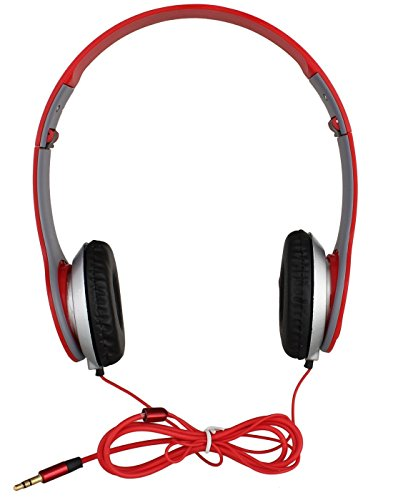 Buddymate ZCF76 Wired Stereo Sound Powerful Headphones Without Mic Comfortable Ear Cup Easy Folding & Flexible Body Compatible with All Devices [Multicolor]