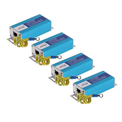 Gazechimp 4 Pezzi Ethernet LAN RJ-45 Surge Protector per Protezione Thunder &