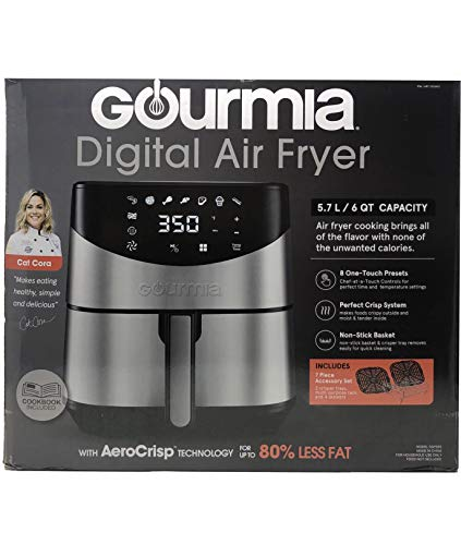 Gourmia 6-Qt. Stainless Steel Digital Air Fryer